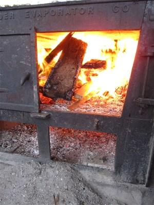 Fire box on evaporator