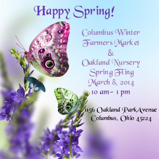 CWFM spring fling with butterflies and flowers