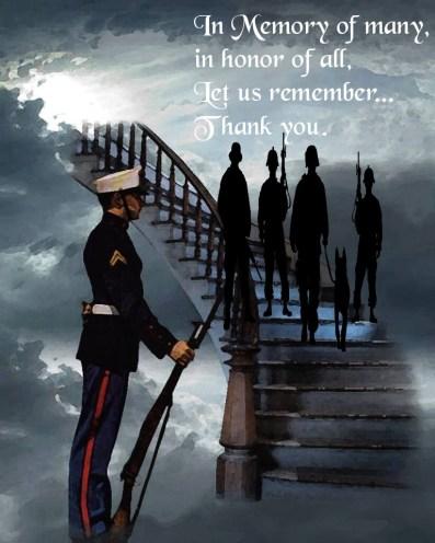 veterans on stairway to heaven in memory of many