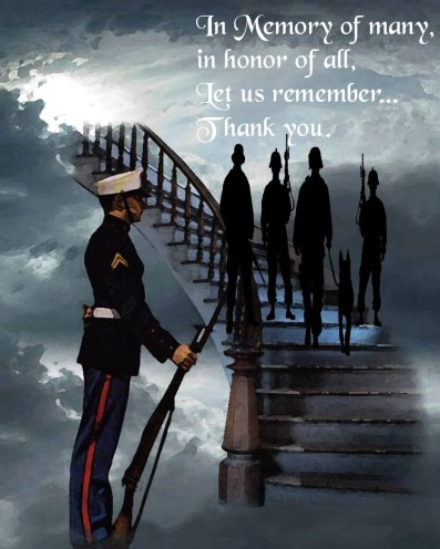 veterans on stairway to heaven in memory of many