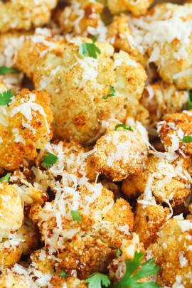 roasted parmesian cheese cauliflower