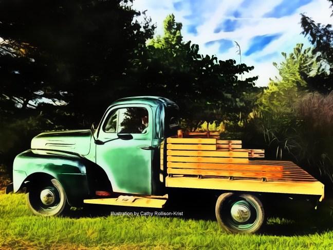 1816-IL sgnd 1950 Ford F1 E1