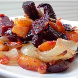 beets & sweet potato dish