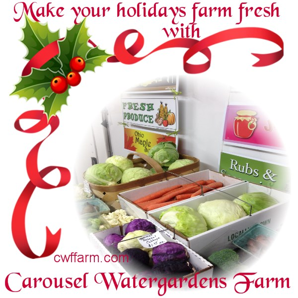 cwffarm produce make ur holiday farm fresh xmas