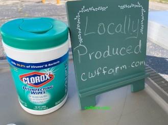 IMG_3018cwffarm keeping it clean & disenfected at CWFFarm