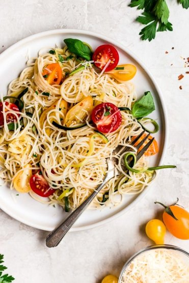 Angel hair -zucchini tomato recipe pic