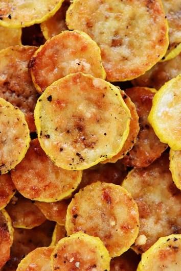 Baked Parmesan Yellow Squash-